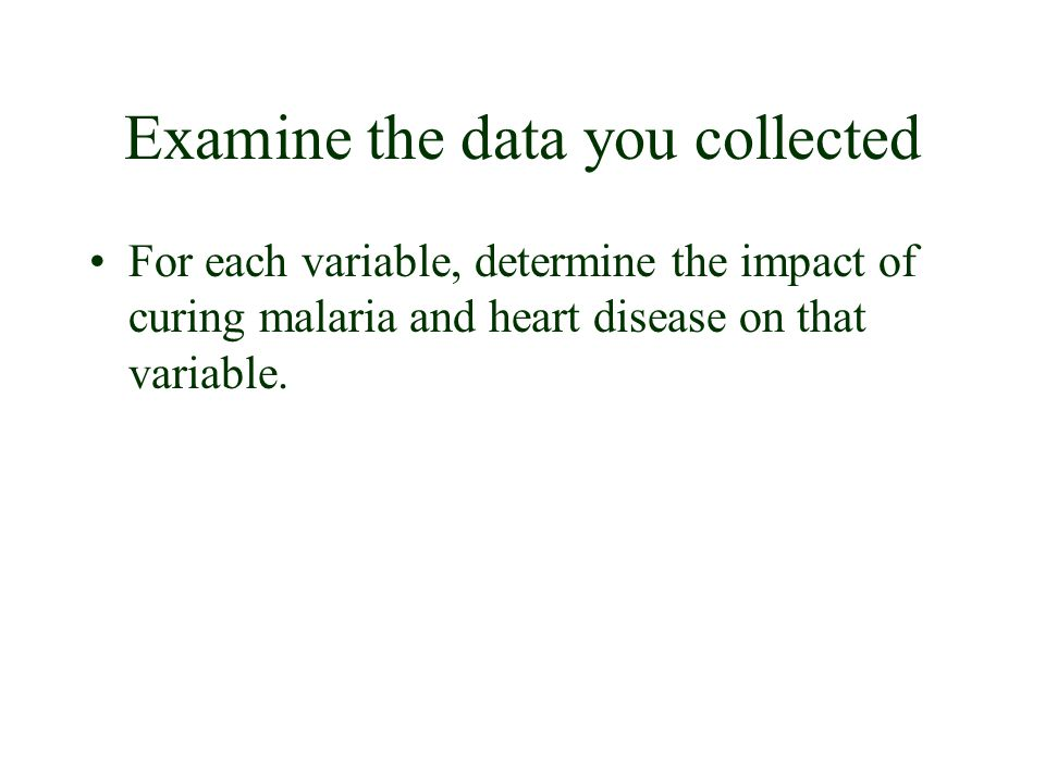 Examine the data you collected