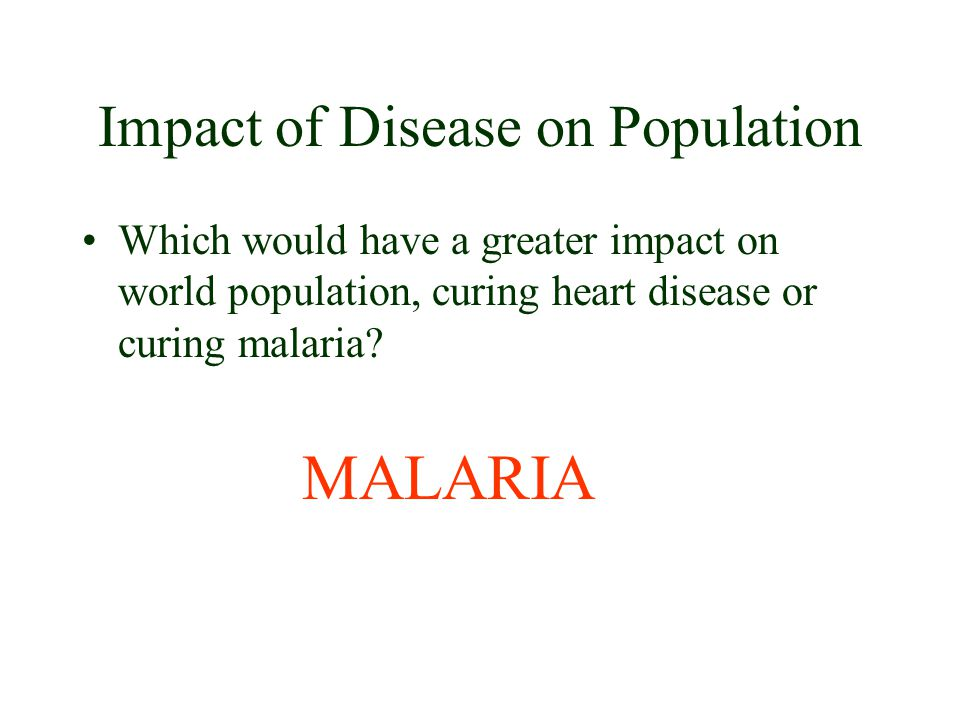 Impact of Disease on Population