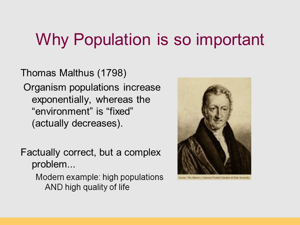 Why Population is so important