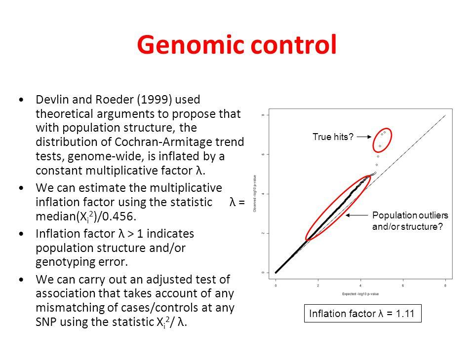 Genomic control