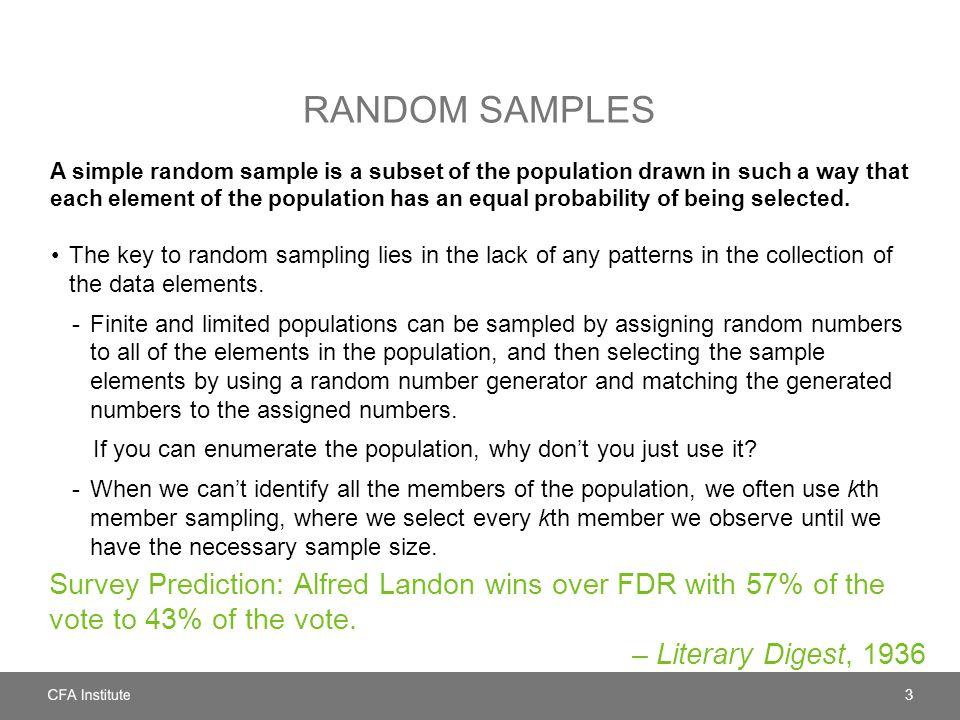 Random samples