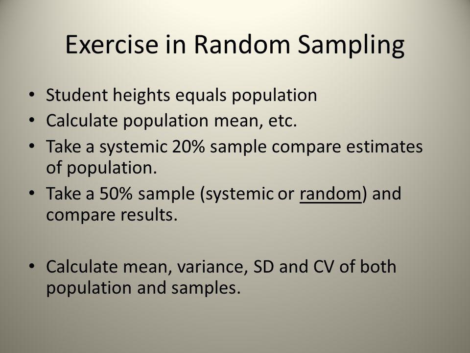 Exercise in Random Sampling