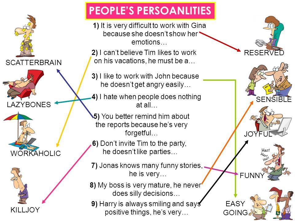 PEOPLE'S PERSOANLITIES
