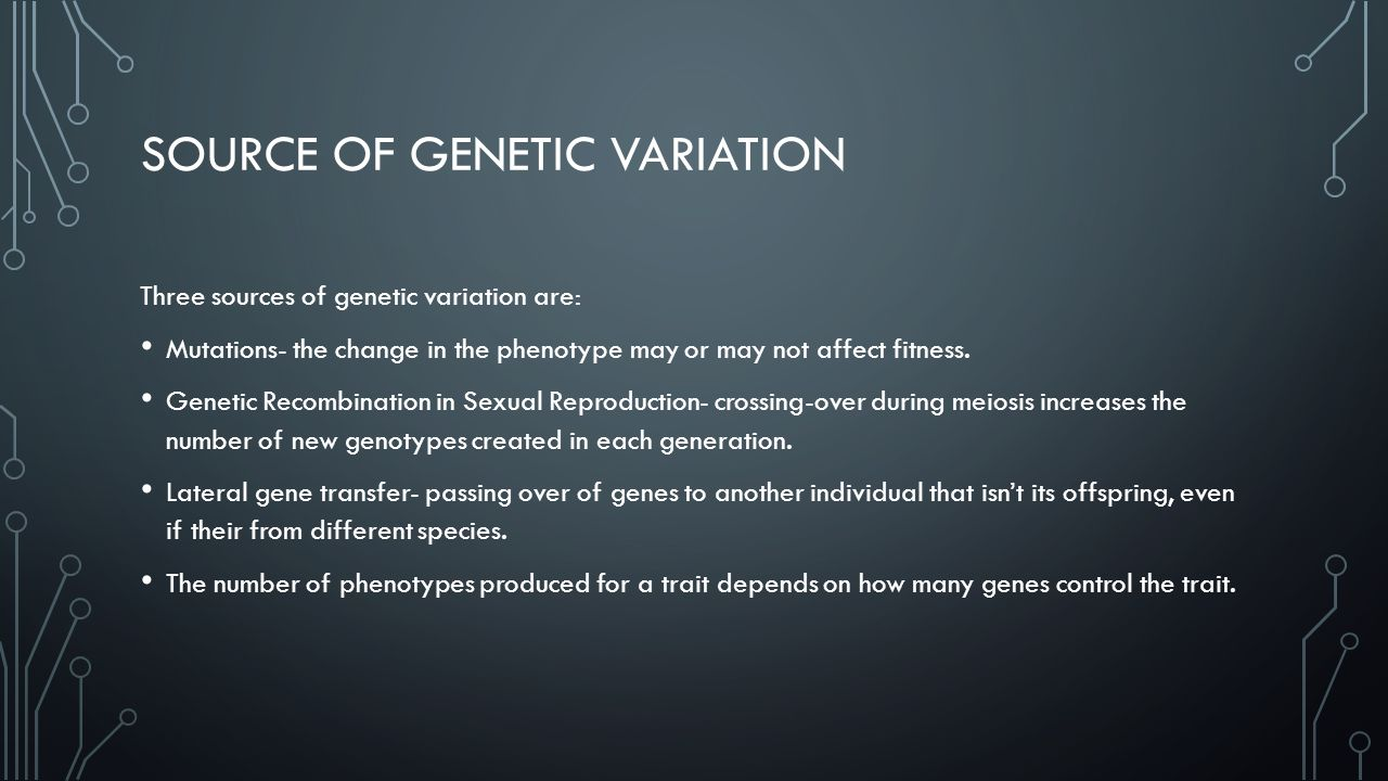 Source of genetic variation