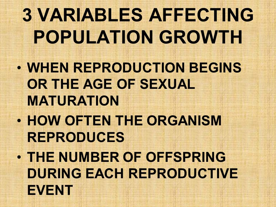 3 VARIABLES AFFECTING POPULATION GROWTH