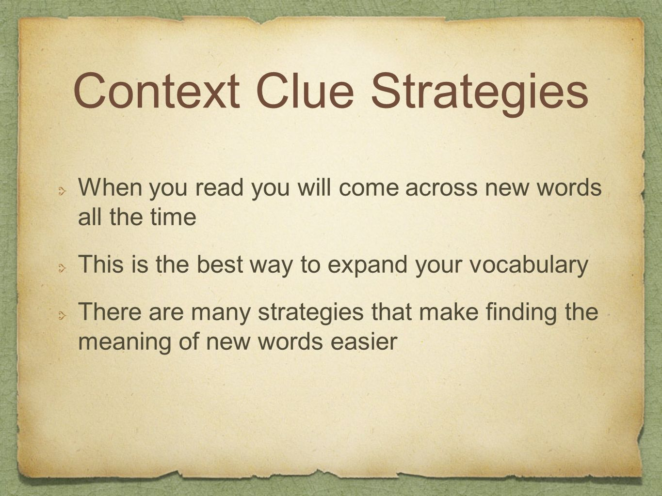 Context Clue Strategies