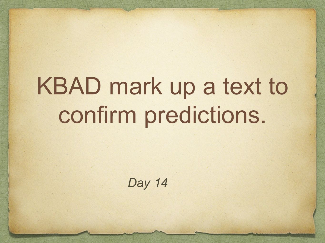 KBAD mark up a text to confirm predictions.