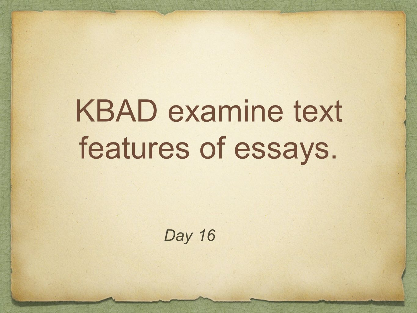 KBAD examine text features of essays.