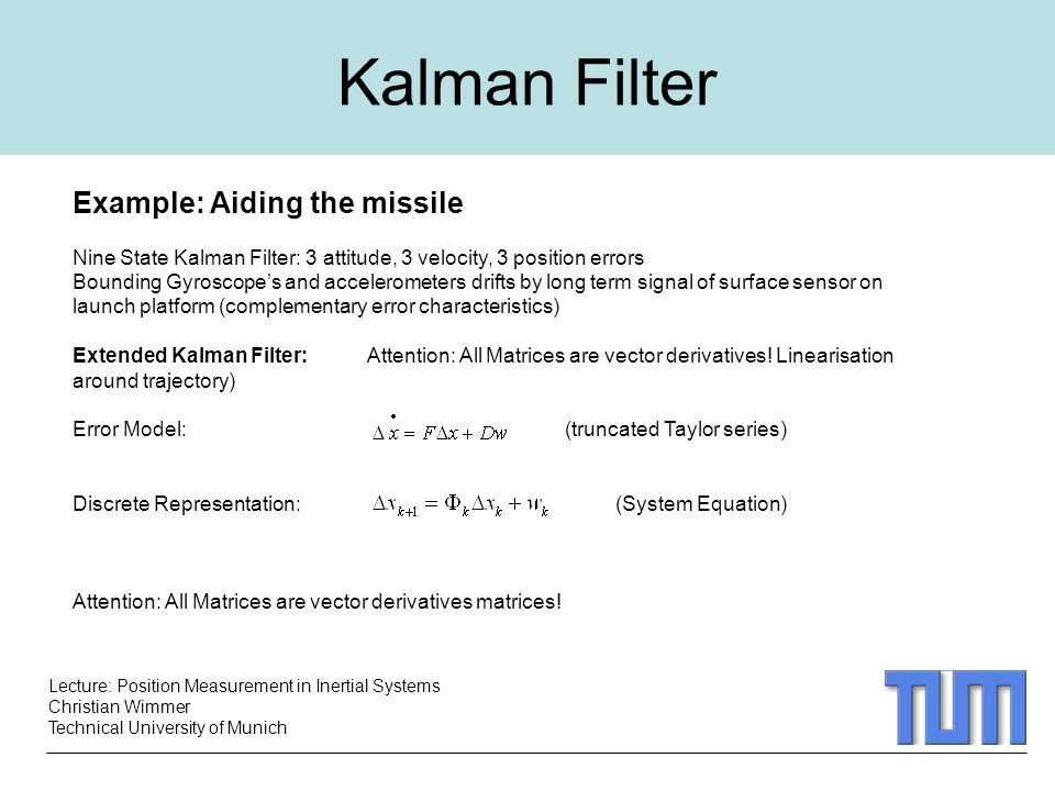 Kalman Filter Example: Aiding the missile