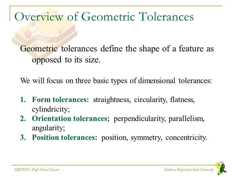 Overview of Geometric Tolerances