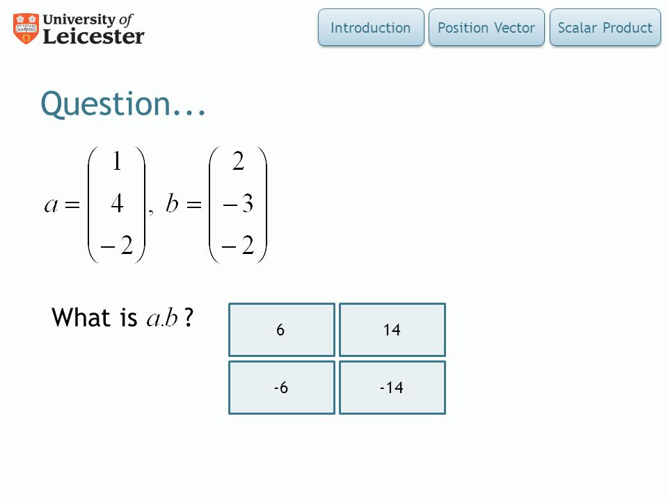 Question... What is Introduction Position Vector