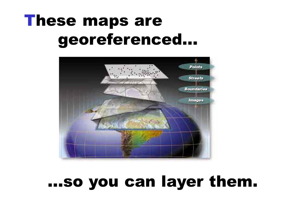 These maps are georeferenced…