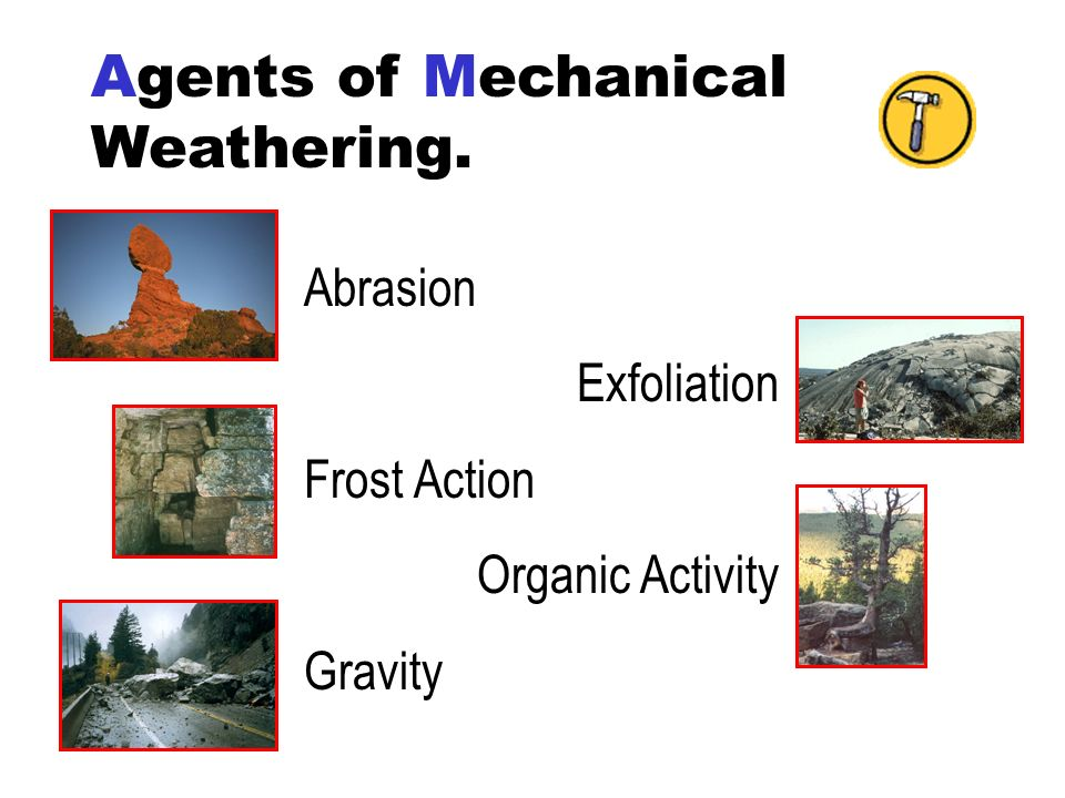 Agents of Mechanical Weathering.