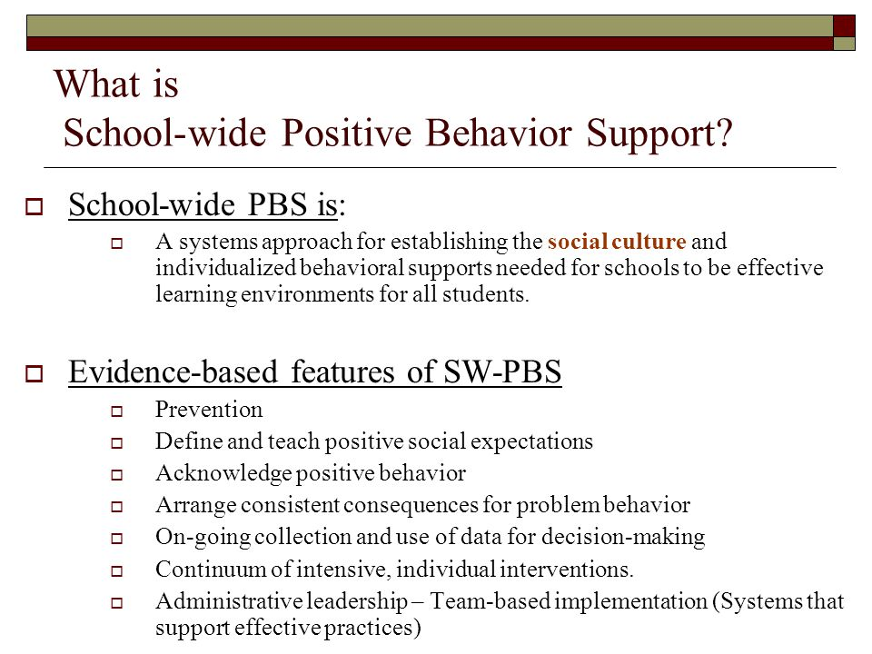 What is School-wide Positive Behavior Support