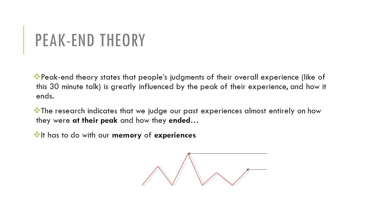 Peak-end theory