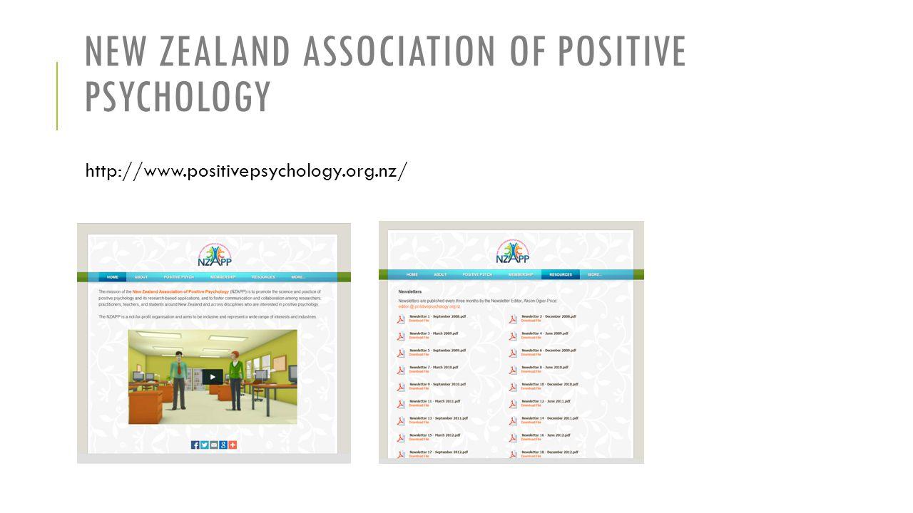 New Zealand Association of Positive Psychology