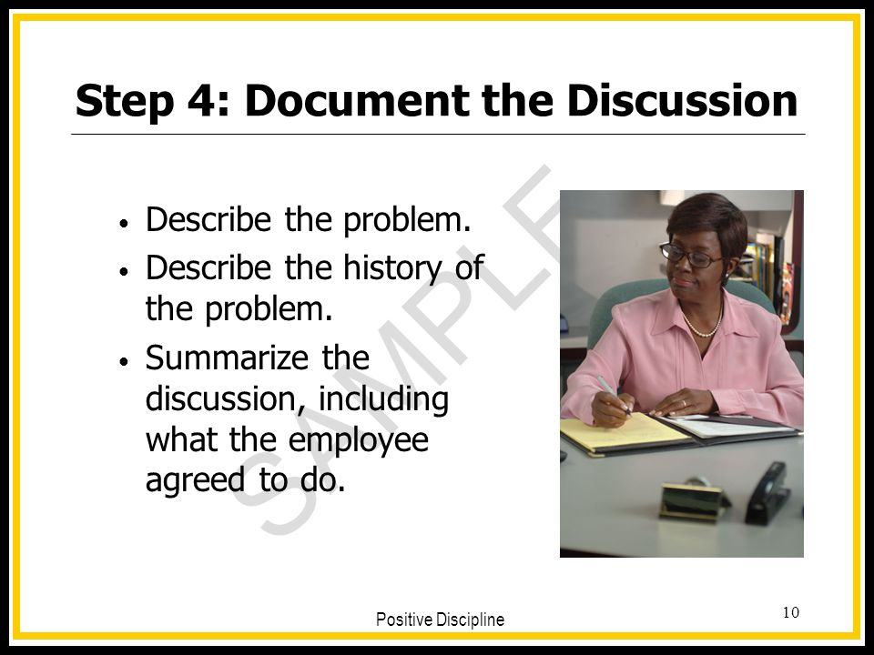 Step 4: Document the Discussion