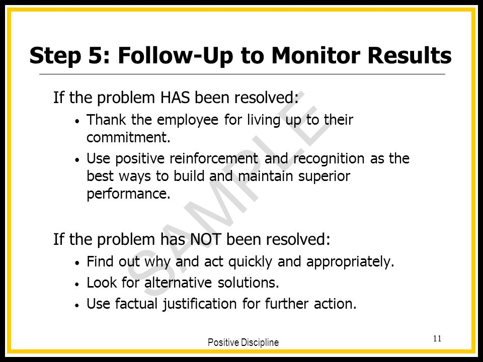 Step 5: Follow-Up to Monitor Results