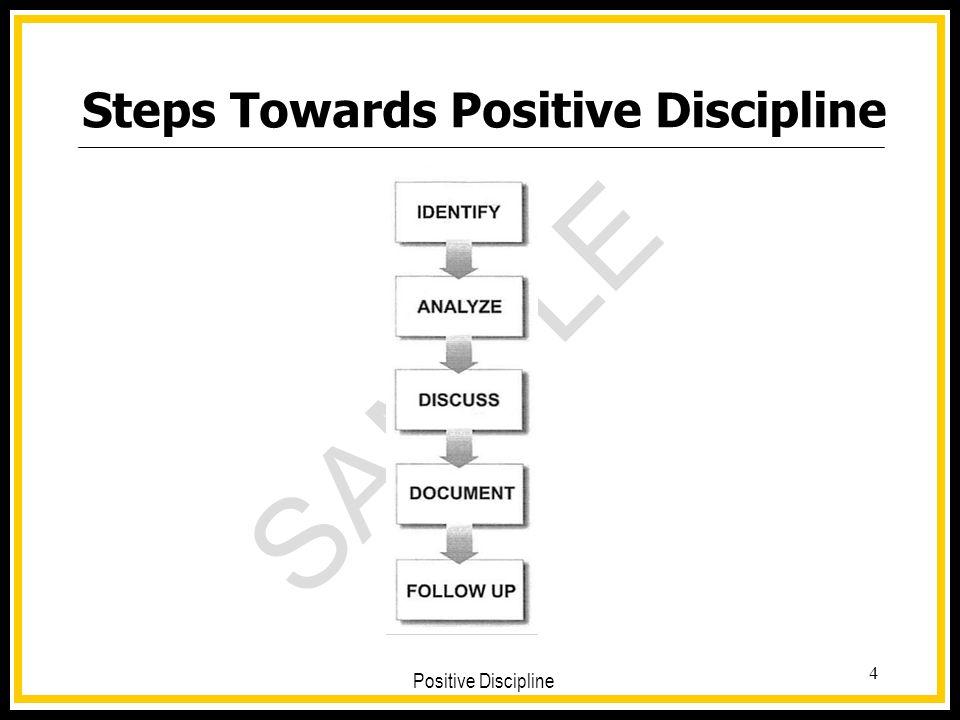 Steps Towards Positive Discipline