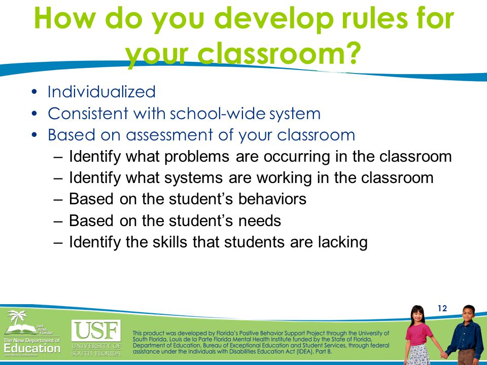 How do you develop rules for your classroom