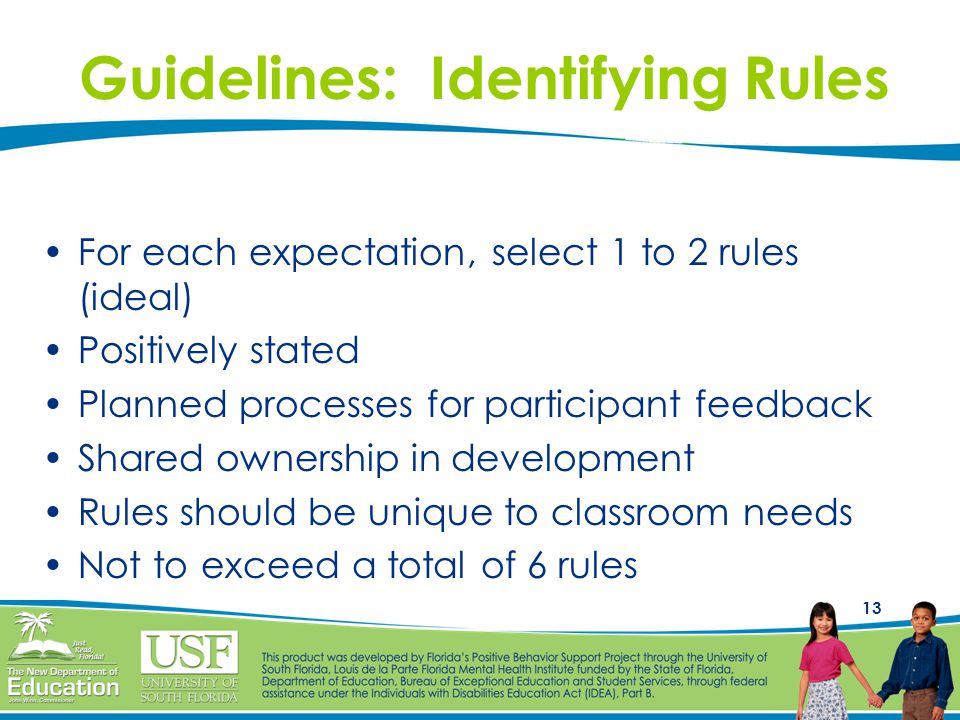 Guidelines: Identifying Rules