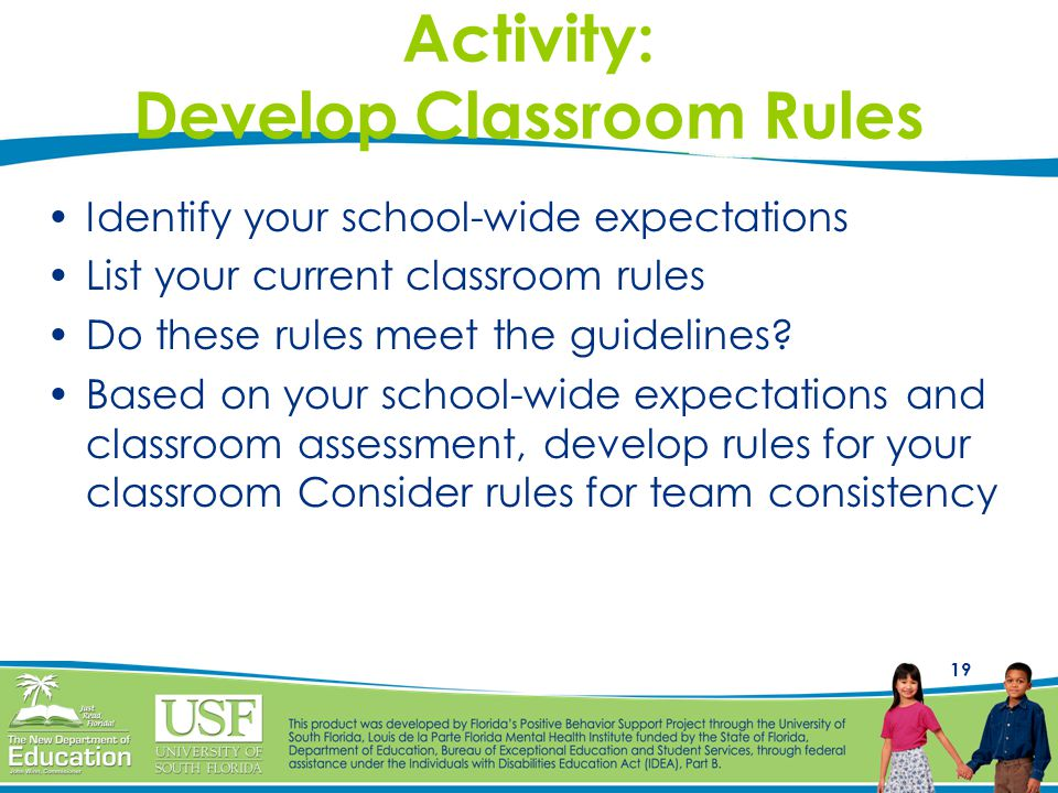 Activity: Develop Classroom Rules