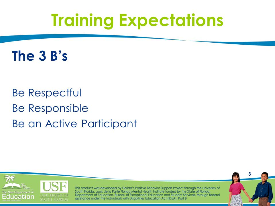 Training Expectations