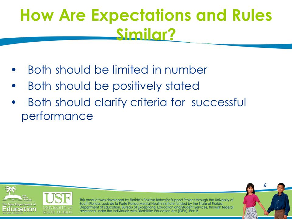 How Are Expectations and Rules Similar