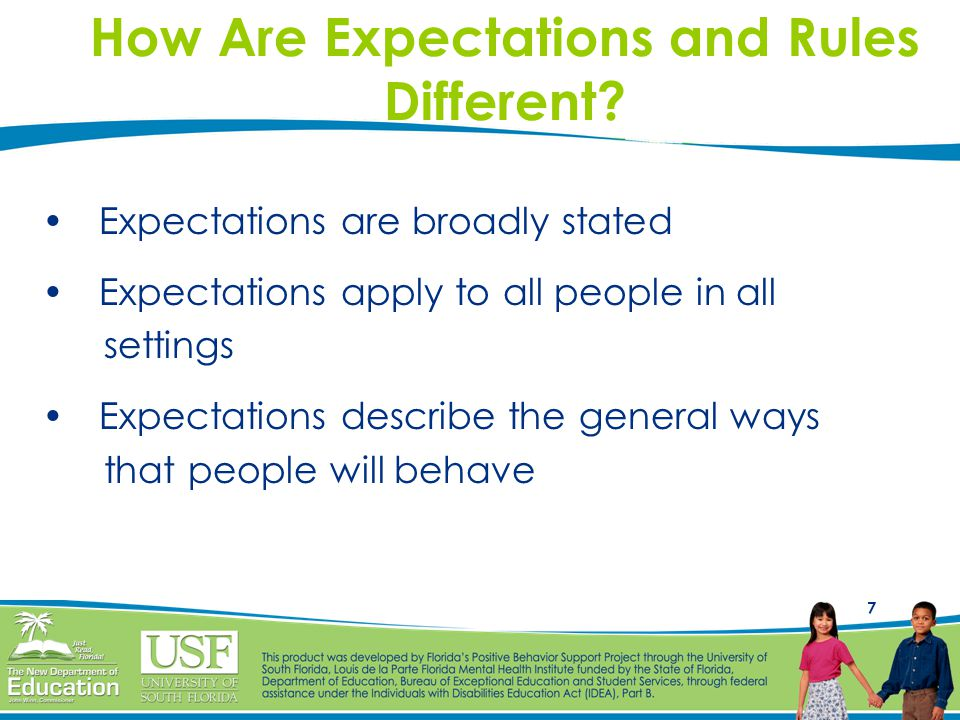 How Are Expectations and Rules Different