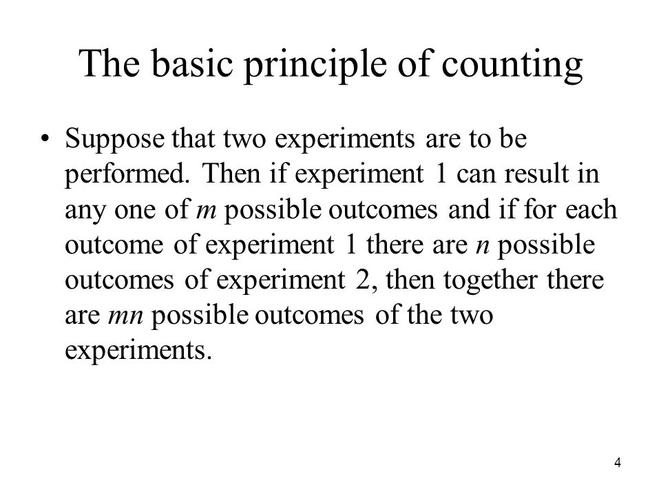The basic principle of counting