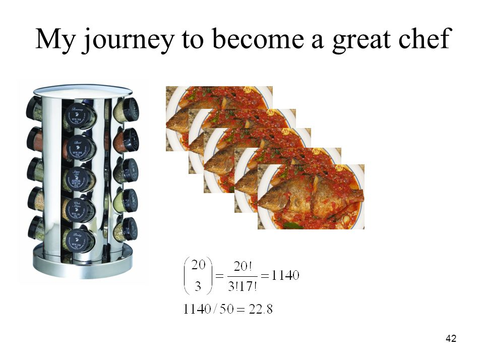 My journey to become a great chef