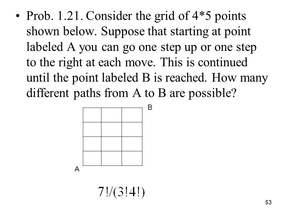 Prob. 1. 21. Consider the grid of 4. 5 points shown below
