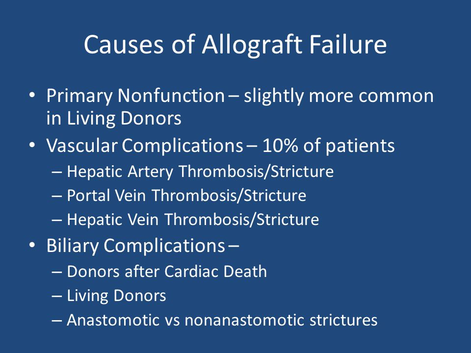Causes of Allograft Failure