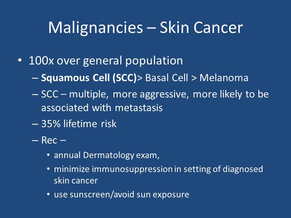 Malignancies – Skin Cancer