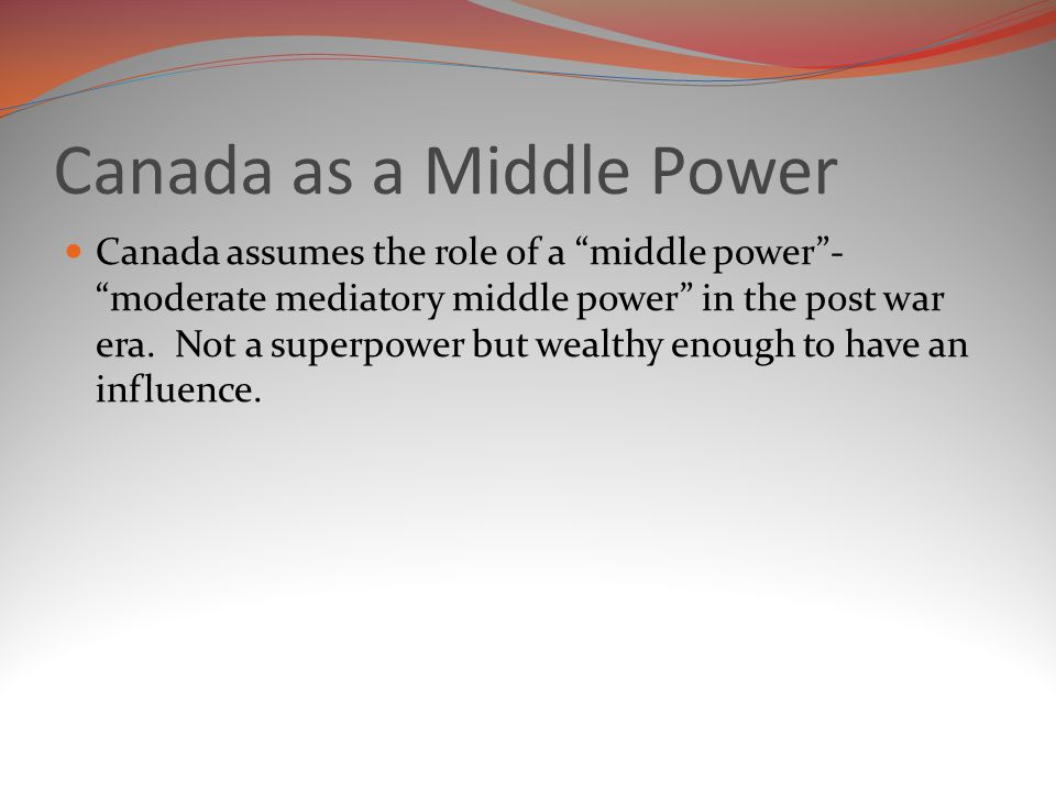 Canada as a Middle Power