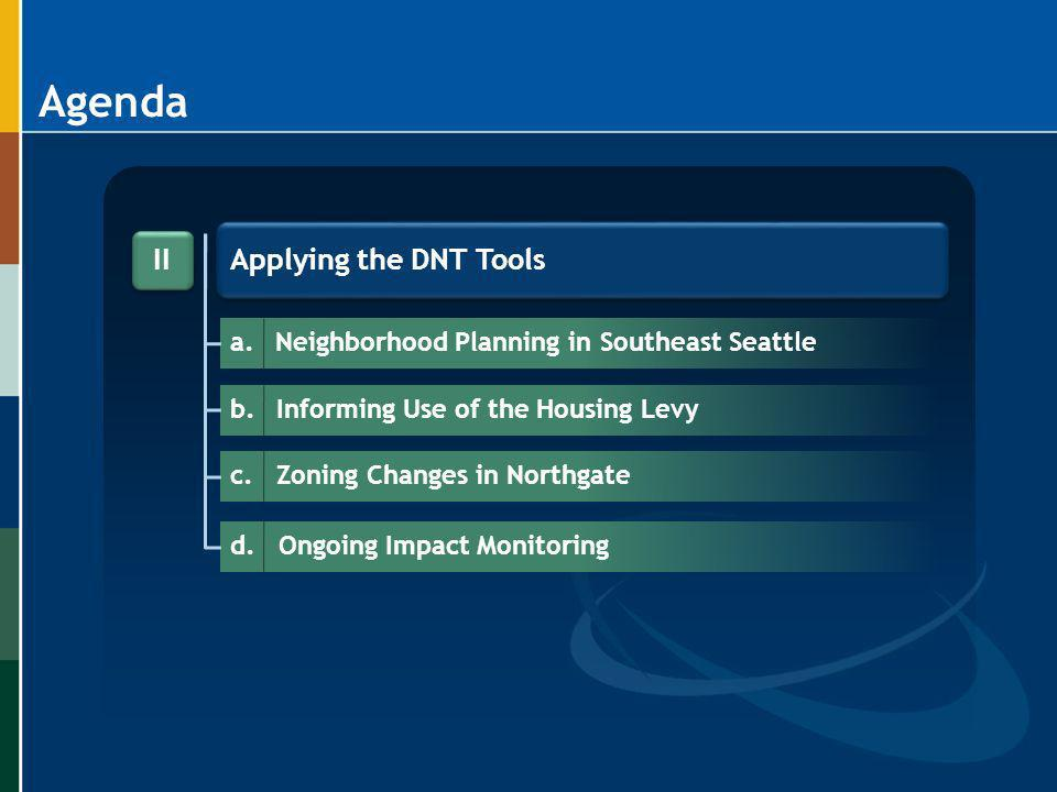 Agenda Applying the DNT Tools II