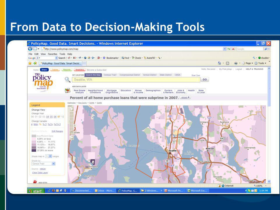 From Data to Decision-Making Tools