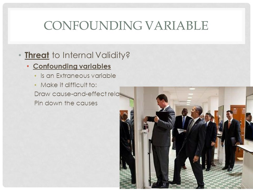 Confounding Variable Threat to Internal Validity