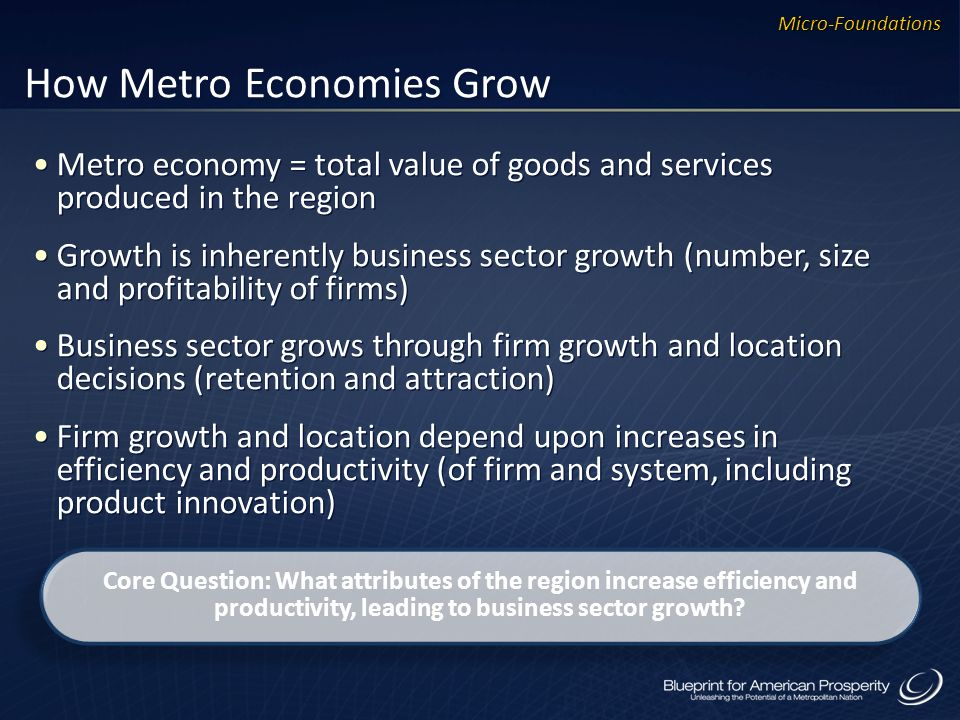How Metro Economies Grow