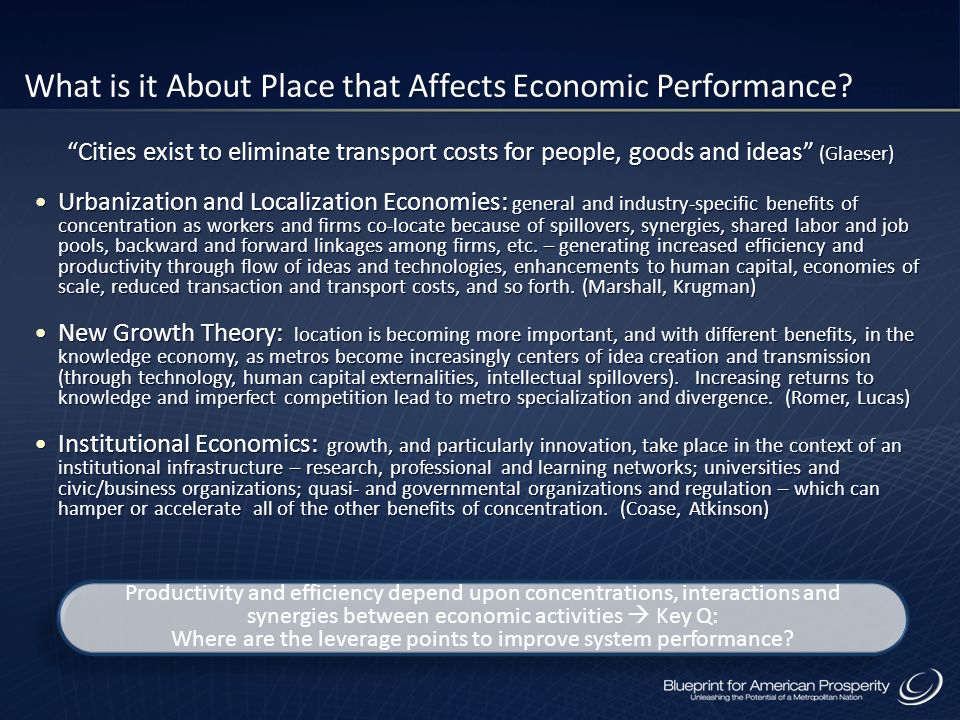 What is it About Place that Affects Economic Performance