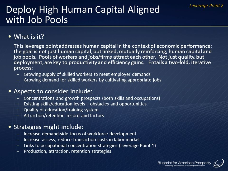 Deploy High Human Capital Aligned with Job Pools