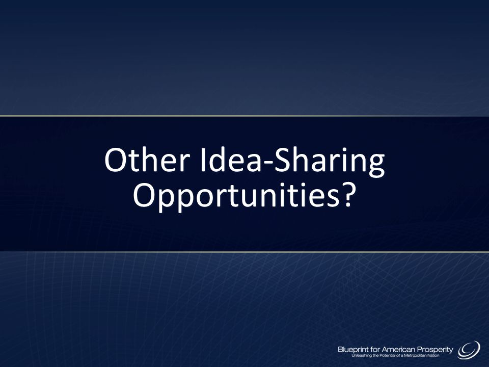 Other Idea-Sharing Opportunities