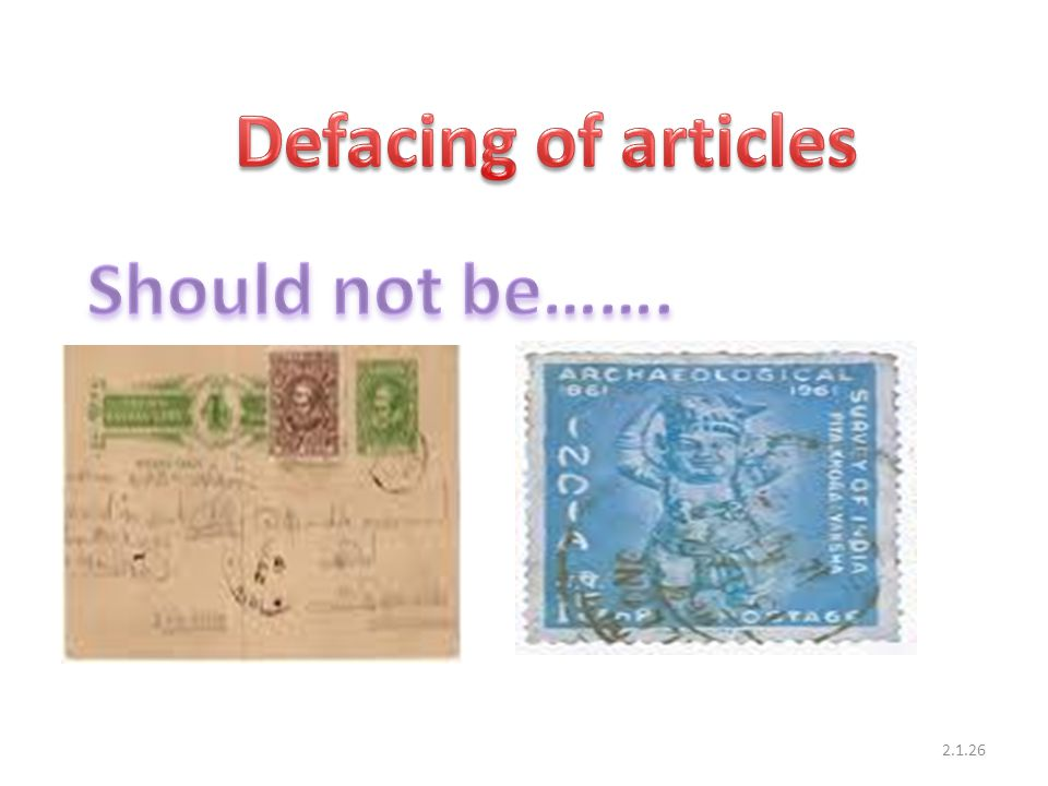 Defacing of articles Should not be…….