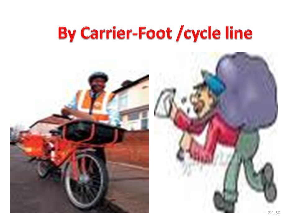 By Carrier-Foot /cycle line