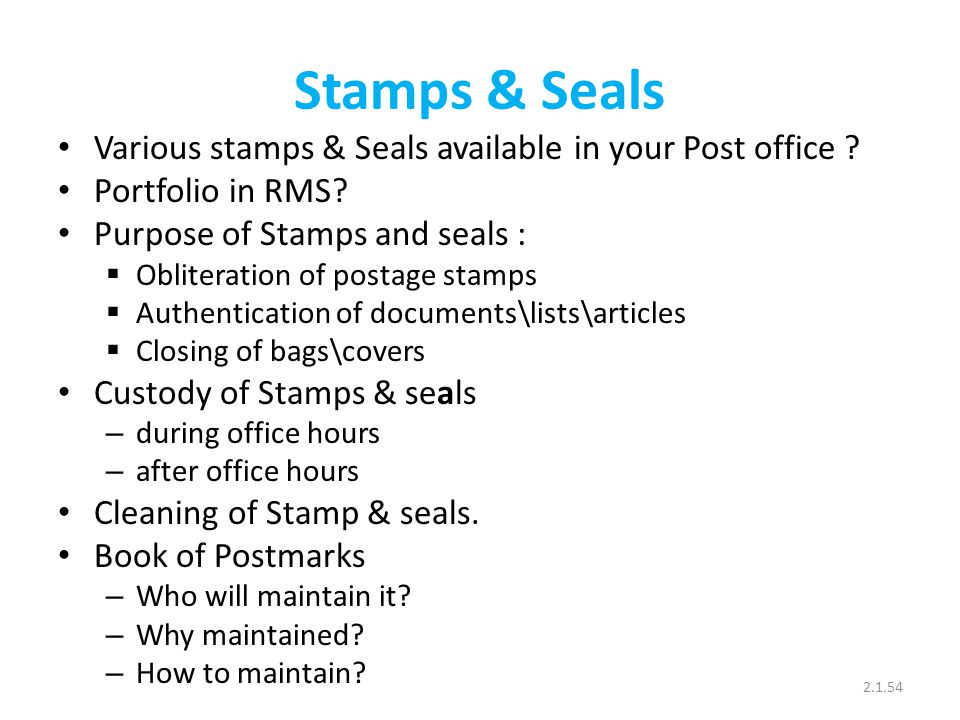 Stamps & Seals Various stamps & Seals available in your Post office