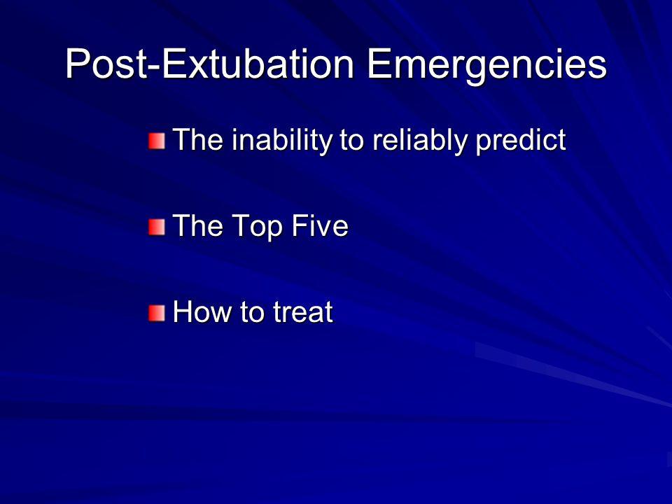 Post-Extubation Emergencies