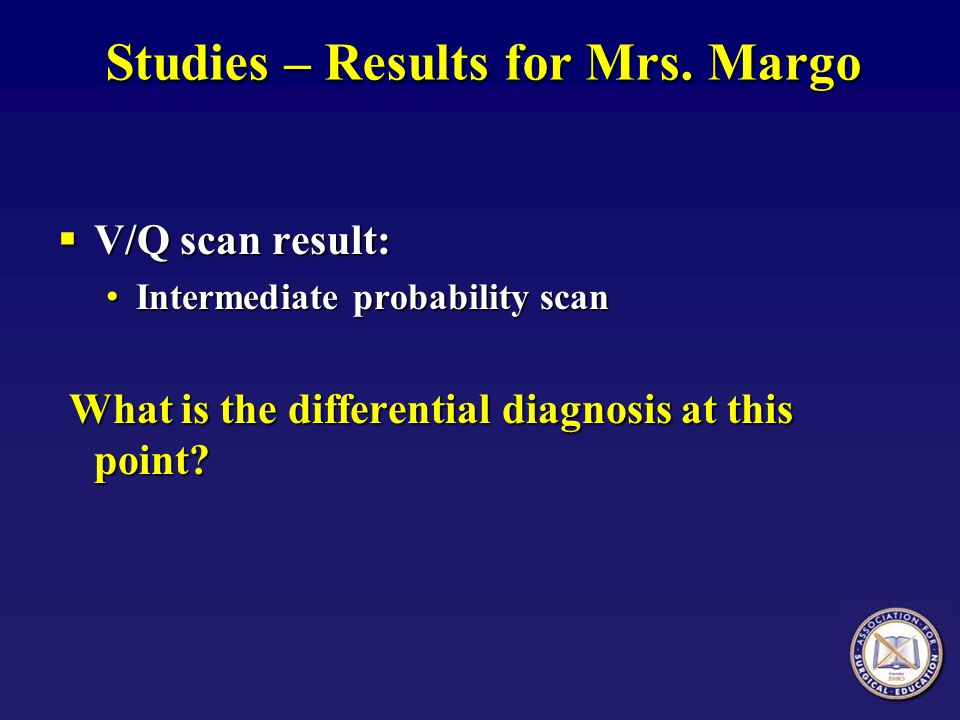 Studies – Results for Mrs. Margo