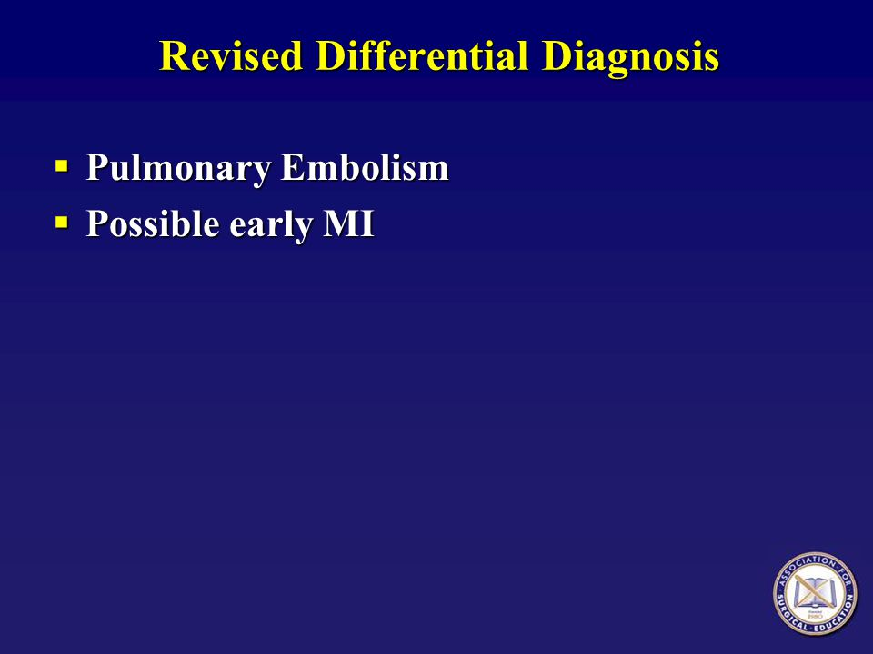 Revised Differential Diagnosis