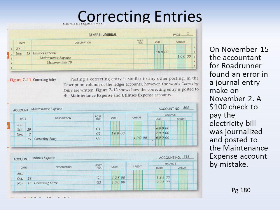 Correcting Entries