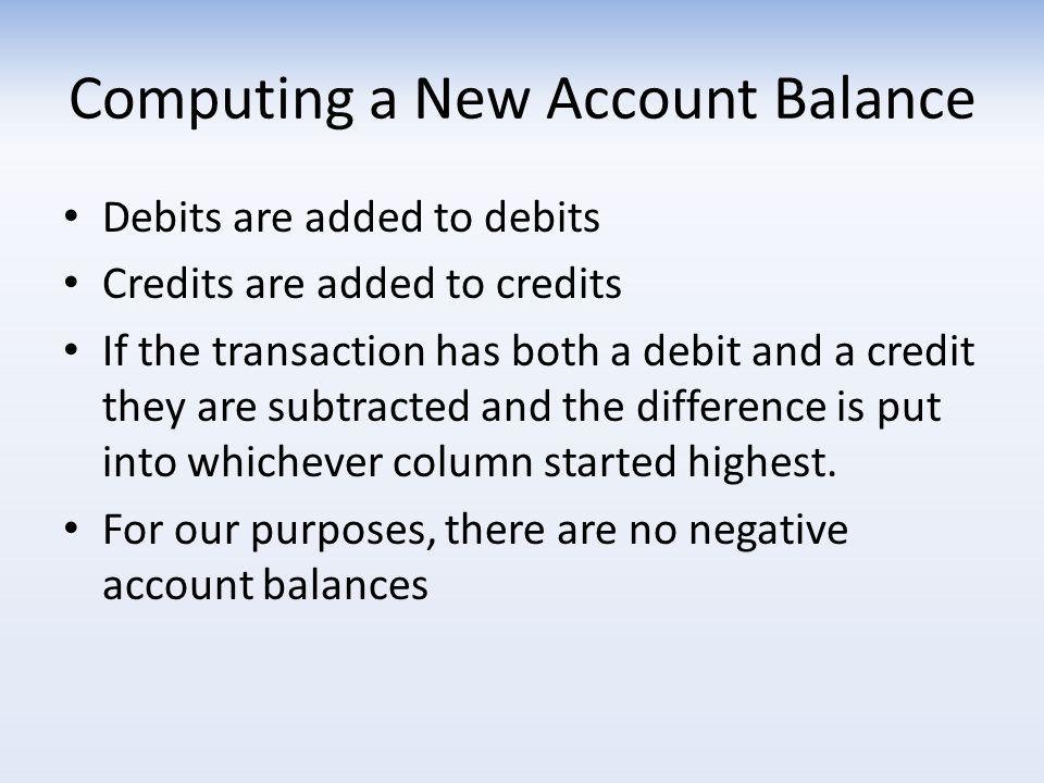 Computing a New Account Balance